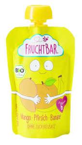 Fruchtbar Bio Mangó, Őszibarack, Banán 6Hó 100 g- 16 db 31347313 Bébiétel, snack