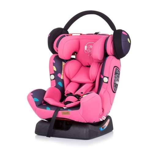 Chipolino 4 Max biztonsági Gyerekülés 0-36kg - Girl #rózsaszín 2020