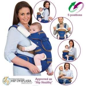 Clevamama ergonomikus 5 pozíciós Babahordozó #kék 31361876 Kenguru