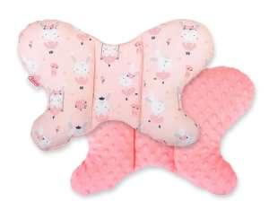 BabyLion Prémium Minky pillangó Párna - Balerina nyuszik #barack 31363977 Nyakpárna