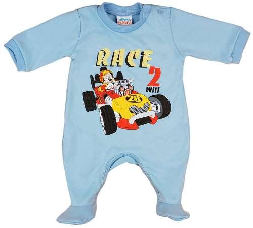 Asti Disney Mickey, autós hosszú ujjú rugdalózó kék 62