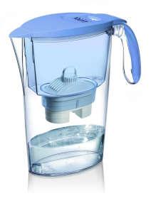 LAICA Clear Line kék vízszűrőkancsó (1 Bi-Flux univerzális szűrőbetéttel) 31365047 Vízszűrő kancsó és tartozék