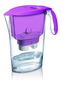 LAICA Clear Line lila vízszűrőkancsó (1 Bi-Flux univerzális szűrőbetéttel) 31365053 Vízszűrő kancsó és tartozék