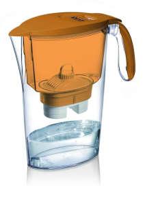 LAICA Clear Line narancssárga vízszűrőkancsó (1 Bi-Flux univerzális szűrőbetéttel) 31365059 Vízszűrő kancsó és tartozék