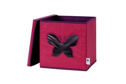 Store !T kocka tároló - Pink/pillangó