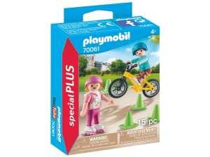 Play. Görkorizó és bicikliző gyerekek 31374320 Playmobil Special Plus