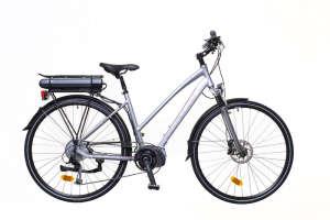 """Neuzer Menton női Elektromos Kerékpár 18"""" #ezüst-piros-szürke 31377254 Elektromos kerékpár"""