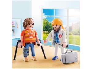 Playmobil Duo Pack orvos és páciens 70079 31377985 Playmobil City