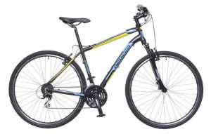 """Neuzer X200 férfi Cross Kerékpár 21"""" #fekete-kék-sárga"""