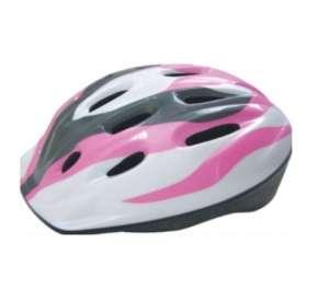 Baby Mix biztonsági Sisak 52-55cm #fehér-rózsaszín 31379473 Kerékpárok