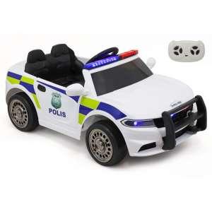 Baby Mix Police Elektromos autó távirányítóval 12V #fehér