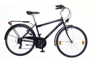 """Neuzer Venezia 30 férfi Városi Kerékpár 21"""" #fekete-szürke"""