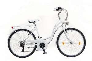 """Neuzer Venezia 30 női Városi Kerékpár 17"""" #fehér-rózsaszín-zöld"""