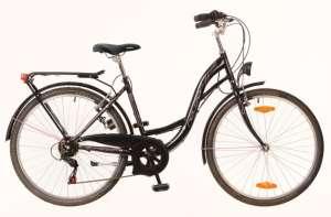 """Neuzer Venezia 6 női Városi Kerékpár 26"""" #fekete-pink"""