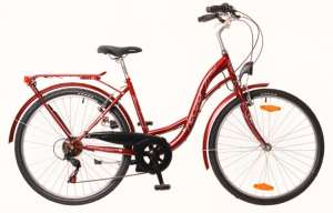 """Neuzer Venezia 6 női Városi Kerékpár 26"""" #bordó-fehér"""