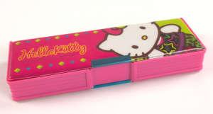 Műanyag Tolltartó - Hello Kitty #zöld-rózsaszín 31381587 Tolltartó, órarend