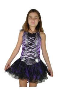 Lány, fekete, lila boszorkány jelmez 31381617 Jelmez gyerekeknek