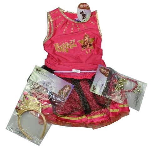 Bratz pink hercegnős jelmez, kiegészítők - 110 31381624