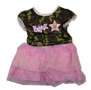Brats rózsaszín terepszínű felső és szoknya 104-122 31381727 Jelmez gyerekeknek