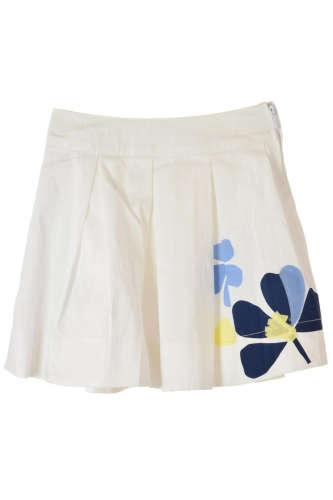 Brums fehér, virágmintás, gumis lány szoknya – 104 31382139