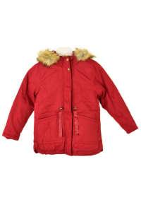 Newness sötétpiros, műszőrmés lány kabát 31382980 Gyerek dzseki, kabát