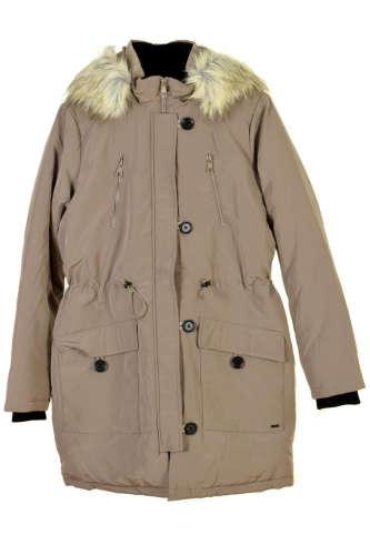 Tom Tailor khaki, kapucnis női kabát – M