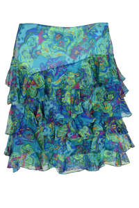 Ralph Lauren kék, mintás selyem női szoknya – 34 31383519 Nőknek