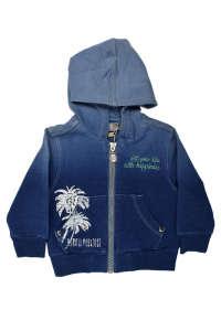 Boboli kék, farmer hatású fiú cipzáras felső – 62 31383664 Gyerek pulóver, kardigán