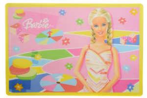 Alátét - Barbie 31383690 Gyerek tányér, evőeszköz, étkészlet