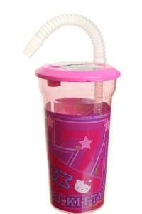 Szívószálas Itatópohár 400ml - Hello Kitty #rózsaszín 31383852 Itatópohár, pohár