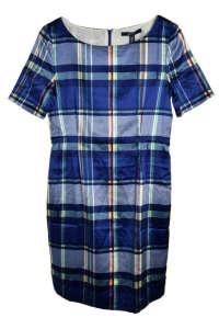 Gant női selyem ruha - Kockás #kék 31383951 Kék