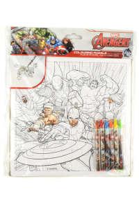 Avengers színezős puzzle és zsírkréták 31384079 Foglalkoztató füzet, kifestő-színező