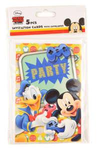 Mickey és Donald meghívók 5 db 31384082 Üdvözlőlap, meghívó