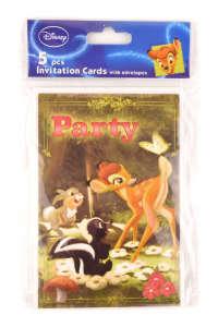 Bambi meghívók 5 db 31384120 Üdvözlőlap, meghívó