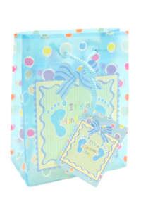 It's a handsome boy! kék ajándéktasak – 14,5 cm 31384167 Ajándék táska, csomagolás