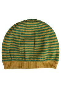 Gant zöld és sárga csíkos, gyapjú női sapka 31384339 Női sál, sapka, kesztyű