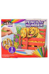Számozott színező lapok ceruzákkal – kiskutyák 31384403 Foglalkoztató füzet, kifestő-színező