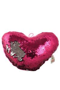 Flitteres, színváltós plüss szív párna – 12 cm, rózsaszín 31384462 Játékok