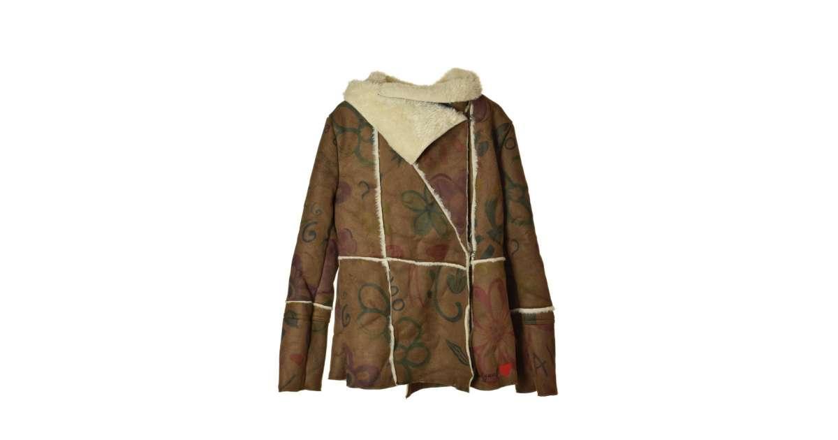 Desigual barna bőr hatású, műszőrmés női kabát – 42 eMAG.hu