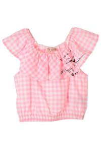 Brums rózsaszín kockás, ujjatlan lány top – 104 31384947 Gyerek blúz, ing