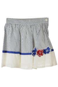 Brums csíkos, virágos díszítésű, pamut lány szoknya – 104 31385110 Brums Gyerek bugyi, alsónadrág