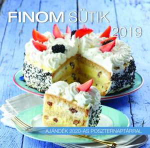 2019 naptár: Finom sütik 31396202 Könyvek