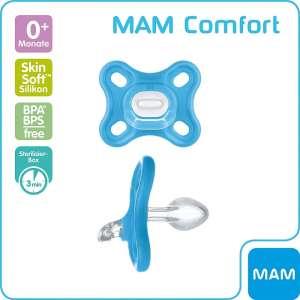 MAM Comfort szilikoncumi 0+ #kék
