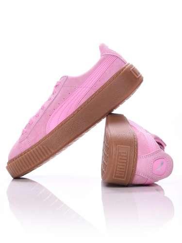 Puma Suede Platform Jr lány Utcai cipő #rózsaszín