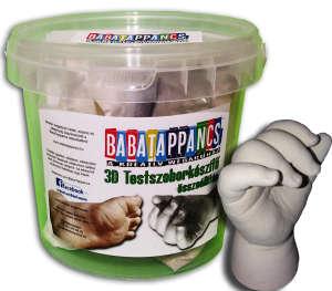 1 szobros kéz és lábszobor készítő összeállítás - GYERMEK méret - BabaTappancs 31411050 Lenyomatkészítő