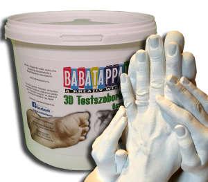 3-4 tagú család kézfogós kézszobor készítő összeállítás - BabaTappancs 31411055 Lenyomatkészítő