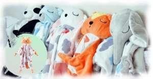 Aga plüss Szundikendő -Róka #fehér-narancssárga (M03) 31433632 Szundikendő
