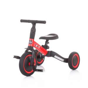 Chipolino Smarty 2in1 Tricikli és futóbicikli #piros-fekete