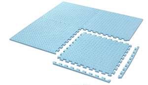 Aga nagyméretű prémium Szivacs Puzzle 4db #kék