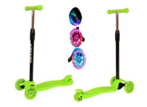 Edi háromkerekű világító Roller #zöld 31433890 Roller és gördeszka